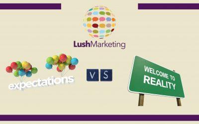 Digital Marketing: Expectations vs. Reality from Lush Marketing's experience.